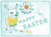 Easter bunny card — Stock Vector