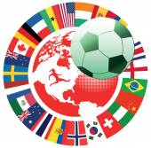 International soccer symbol — Stock Vector