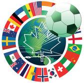 Canada  soccer symbol — Stock Vector