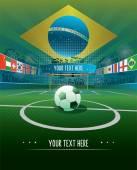 Brazil Soccer stadium — Stock Vector