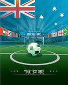 Great Britain Soccer stadium — Stock Vector