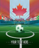 Canada soccer stadium — Stock Vector