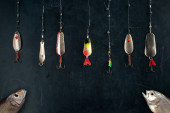 Different spoon lures — Stok fotoğraf