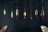 Different spoon lures — Stock Photo