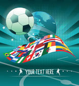 World soccer background — Stock Vector