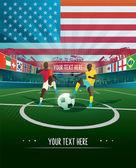 Usa soccer stadium — Stock Vector