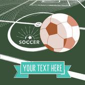 Soccer  symbol with football — Stockvector