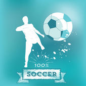 Scribbled soccer icon — Stock Vector