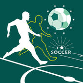 Soccer player symbol — Vector de stock