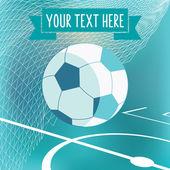 Soccer  symbol with football — Stock vektor