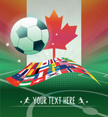Canadian woman soccer — Stock Vector