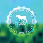 Quality label with sheep — Stock Vector