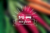Eco farm icon — Stock Vector