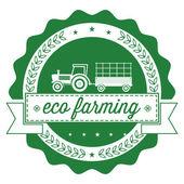 Eco farmr label — Stock Vector
