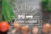 Farmers market  icon — Stock Vector