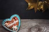 Gingerbread Oktoberfest heart — Stock Photo