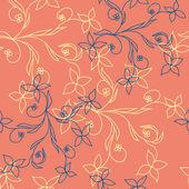 Patrones sin fisuras con lindas flores — Vector de stock