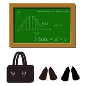 Let's go to school — Vettoriale Stock