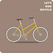Vintage City bike — Stock Vector