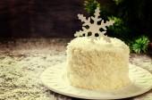Coconut chocolate cake with cream cheese  — Stock Photo