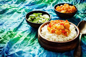 Rice with curry cauliflower — Stock Photo