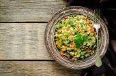 Salad with bulgur and vegetables, Tabbouleh — Stock Photo