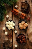 Christmas baking ingredients — Stock Photo