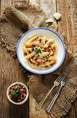Pasta with eggplants — Stock Photo
