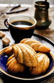 Madeleine cookies with cinnamon and poppy seeds — Stockfoto