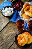 Traditional Turkish bread rolls. Achma. — Stock Photo