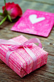 Valentine's background with gifts — Stock Photo
