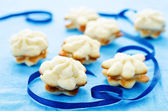 Cookies sable with cream cheese — Stockfoto