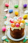 Easter cake with multicolored flowers — Fotografia Stock