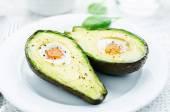 Avocado baked with egg  — Stock Photo