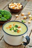 Broccoli soup puree — Stock Photo