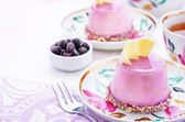 Cake with a creamy mousse and stuffed berry mousse — Stock Photo