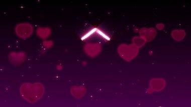 Сердце света на романтичном фоне 2 — Стоковое видео