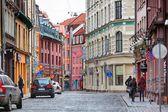Street in latvia — Stock Photo