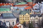 ラトビアの高いビューの都市 — ストック写真