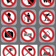 12 prohibition signs vector set — Stock Vector #64710667