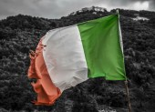 Old italian flag — Stock Photo