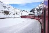 Bernina Express, railway between Italy and Switzerland — Stockfoto