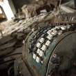 Chernobyl - Cash register in abandoned store — Stock Photo #78180792