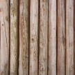 Wooden logs wall of rural house background — Stock Photo #56490661