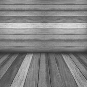 Wooden panel wall and floor interior background. — Stock Photo