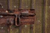 Rusty door bolt — Stock Photo