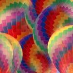 Abstract rainbow hot air balloon. — Stock Photo #59160557