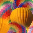 Abstract yellow and rainbow hot air balloon. — Stock Photo #59160457
