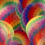 Abstract rainbow hot air balloon. — Stock Photo #59160507