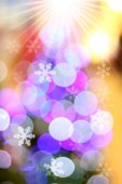 Defocused abstract light bokeh christmas background — Stock Photo